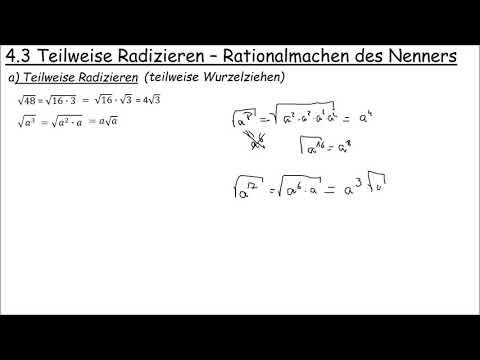 6.3 Teilweise Radizieren Und Rationalmachen Des Nenners