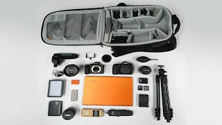 What's in my camera bag? Sony A7RII & Canon 70D (LowPro Runner BP 350)
