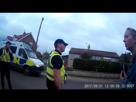 Best video of  Vanda's initial Assault at Kirby Misperton Anti Fracking protest against Third Energy