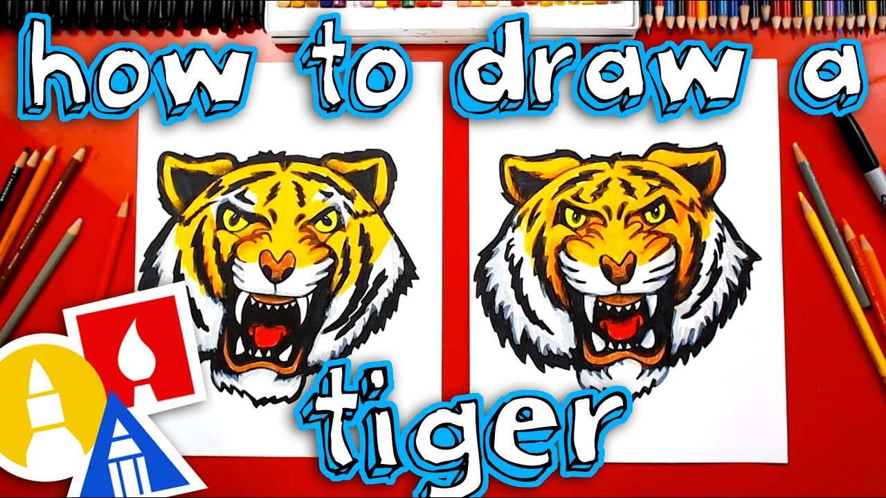 How To Draw A Realistic Tiger Head Youtube