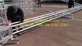 How to Install the Lighting Truss and Stages for Outdoor Event and Party