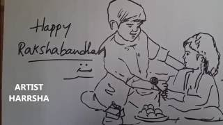 HAPPY RAKSHABANDHAN - 2016 - ARTIST HARRSHA