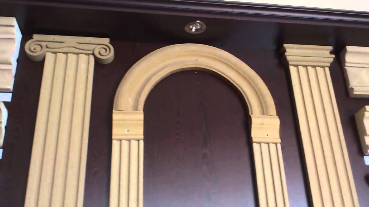 Монтаж потолочного плинтуса из полиуретана видео - YouTube