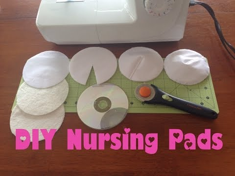 DIY Nursing Pads; Washable, Waterproof Breast Pads