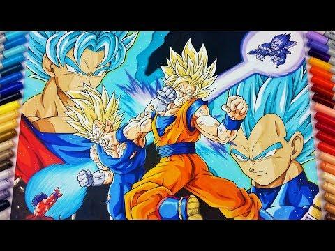 Drawing Goku vs Vegeta | EPIC FIGHT! | TolgArt