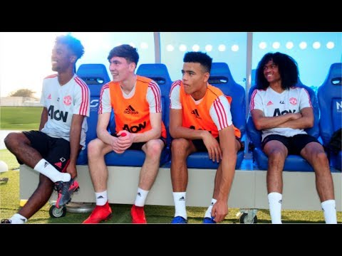 Manchester United Players Training Session in Dubai!