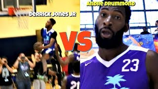 Derrick Jones Jr DUNKS ON Andre Drummond?! Miami Pro League 2018 Video