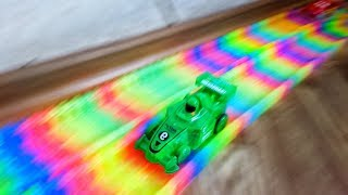 Mr. Joe Started Very Funny Race on Magic Track! Cool Magic Cars for Kids!