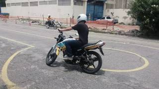 Prova moto Niterói.( Aluno higno  instrutor Eliezer)