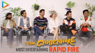 If SRK were your TEACHER, what would you learn from him?–Team Chhichhore's AMAZING Rapid Fire