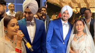 Lovebirds Neha Kakkar And Rohanpreet Singh ENJOY FULL Wedding Reception 😍 ❤️. #nehudavyah #nehupreet