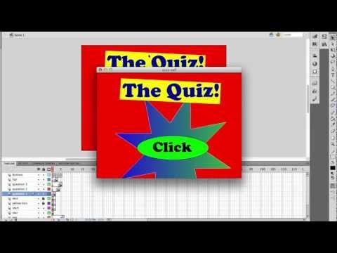Adobe Flash CS5 - Making a quiz game