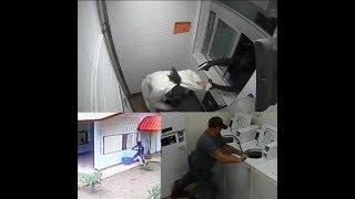 Armed robber climbs through McDonald