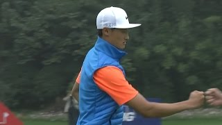 Haotong Li's brilliant up-and-down for birdie at HSBC Champions
