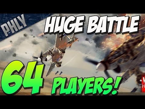 64 PLAYERS! HUGE BATTLE - Enduring Confrontation ( War Thunder Gameplay)