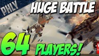 64 PLAYERS! HUGE BATTLE - Enduring Confrontation ( War Thunder Gameplay)