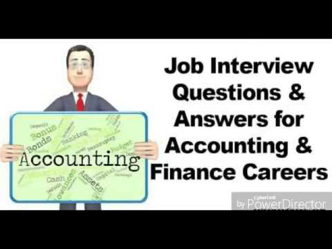 Most Comm 15 Accounting jobs Interviews Questis with Brief AnswersPart1