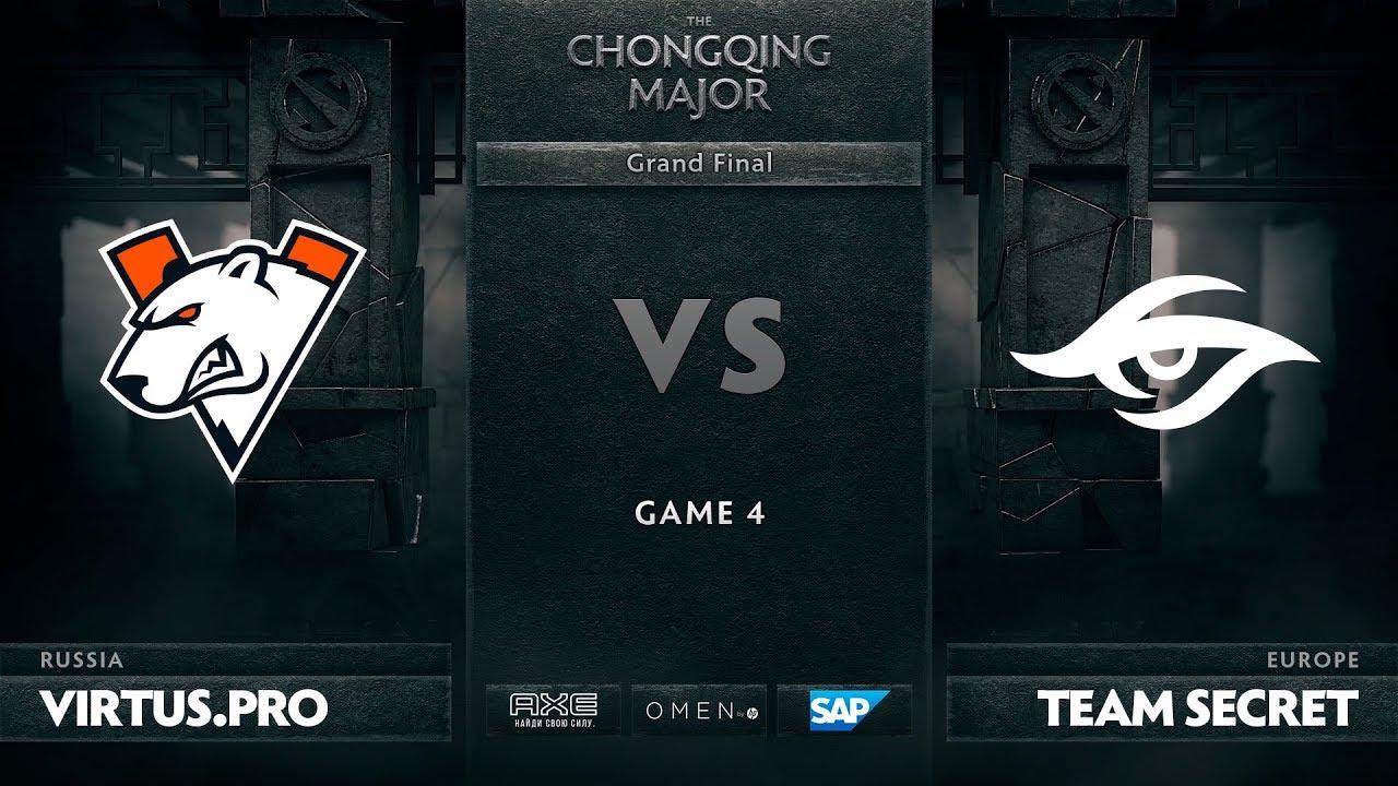 [RU] Virtus.pro vs Team Secret, Game 4, The Chongqing Major Grand Final