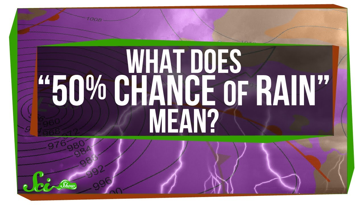 What Does A 50 Chance Of Rain Actually Mean Youtube