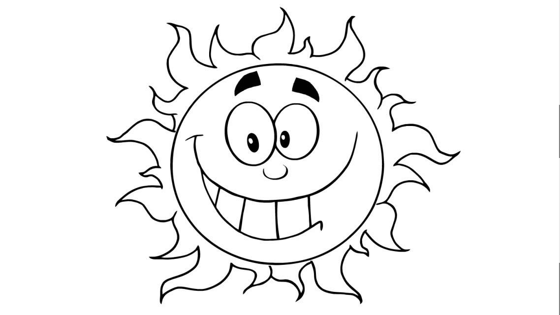 How to draw a happy sun