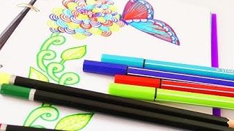 Malen & Zeichnen im Frühling | Kathi malt im Filofax | Wunderschöne Blumen,  Muster & Schmetterlinge