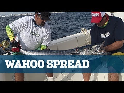 Florida Sport Fishing TV Wahoo Trolling Spread