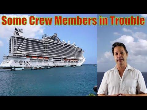 MSC Seaside crew members in trouble