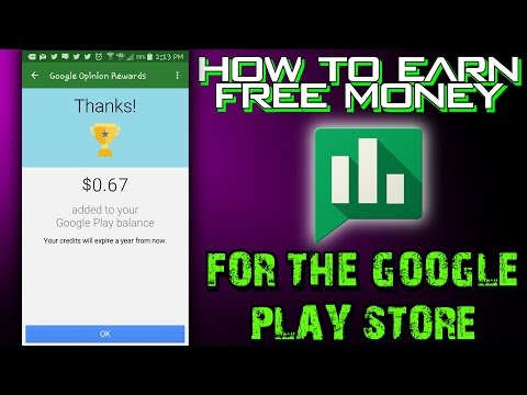 "How To Earn ""Free Money"" For The Google Play Store - ""Google Opinion Rewards"" App Review"