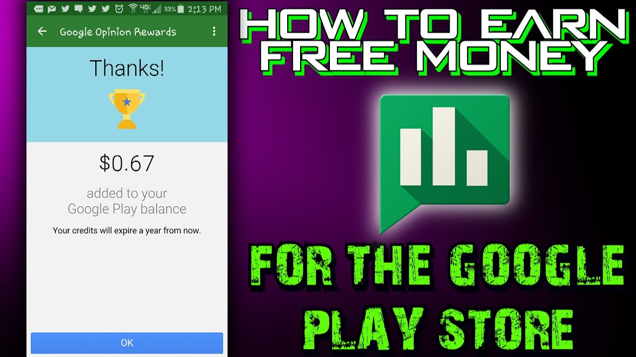 How To Earn Free Money For The Google Play Store