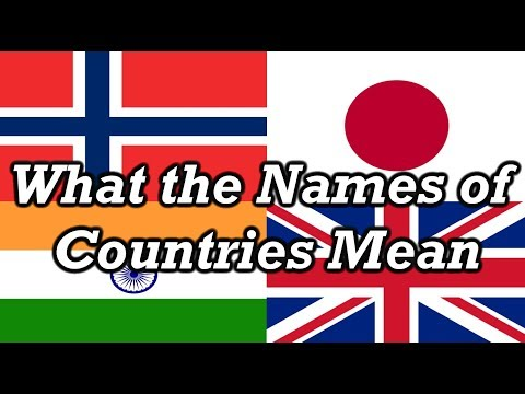 Country Names Explained
