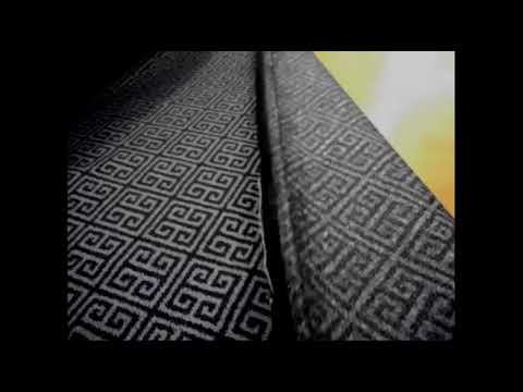 Classic Greek Key Design Upholstery Fabric Youtube