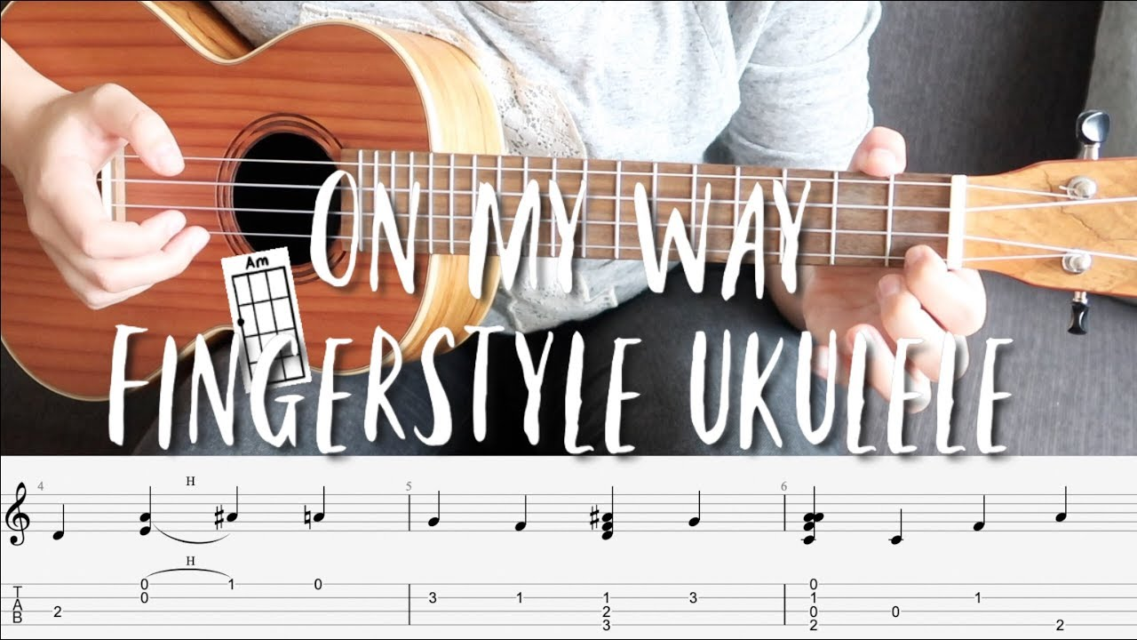Fingerstyle Ukulele Tutorial - On My Way by Alan Walker (with tabs on  screen)