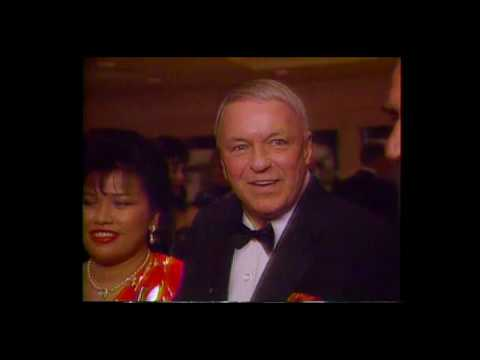 Frank Sinatra gets the Will Rogers Award on his 80th birthday