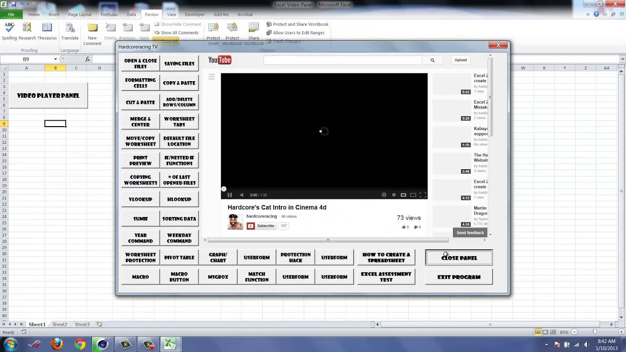 Excel How To Unprotect Workbooks Or Bypass Protection Youtube