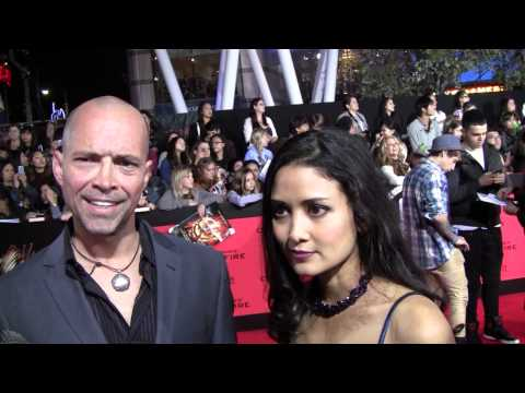 EXCLUSIVE: James Logan & Yvette Li-Sanchez talks THE HUNGER GAMES: CATCHING FIRE at the LA premiere