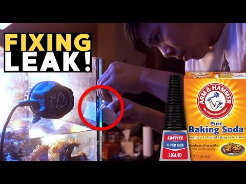 How To Fix Leaking Full Aquarium (Super Glue & Baking Soda Vs Silicone) - 45g TANK LEAKED!! 😱