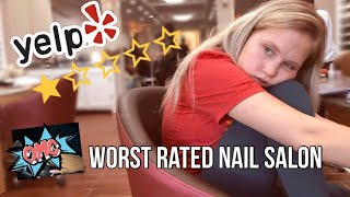 GOING TO THE WORST RATED NAIL SALON IN MY CITY! (live footage)