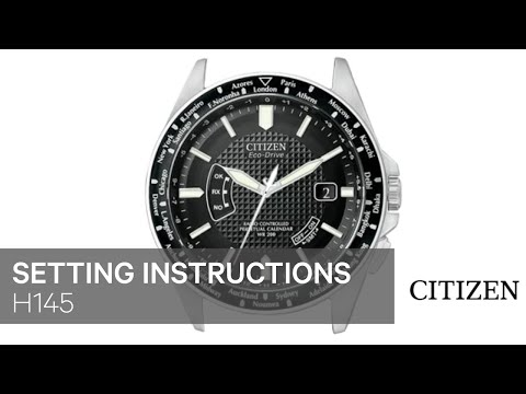Official Citizen H145 Setting Instruction Youtube