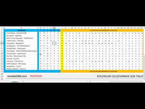 Benzersiz Rastgele 24 kolon Spor Toto