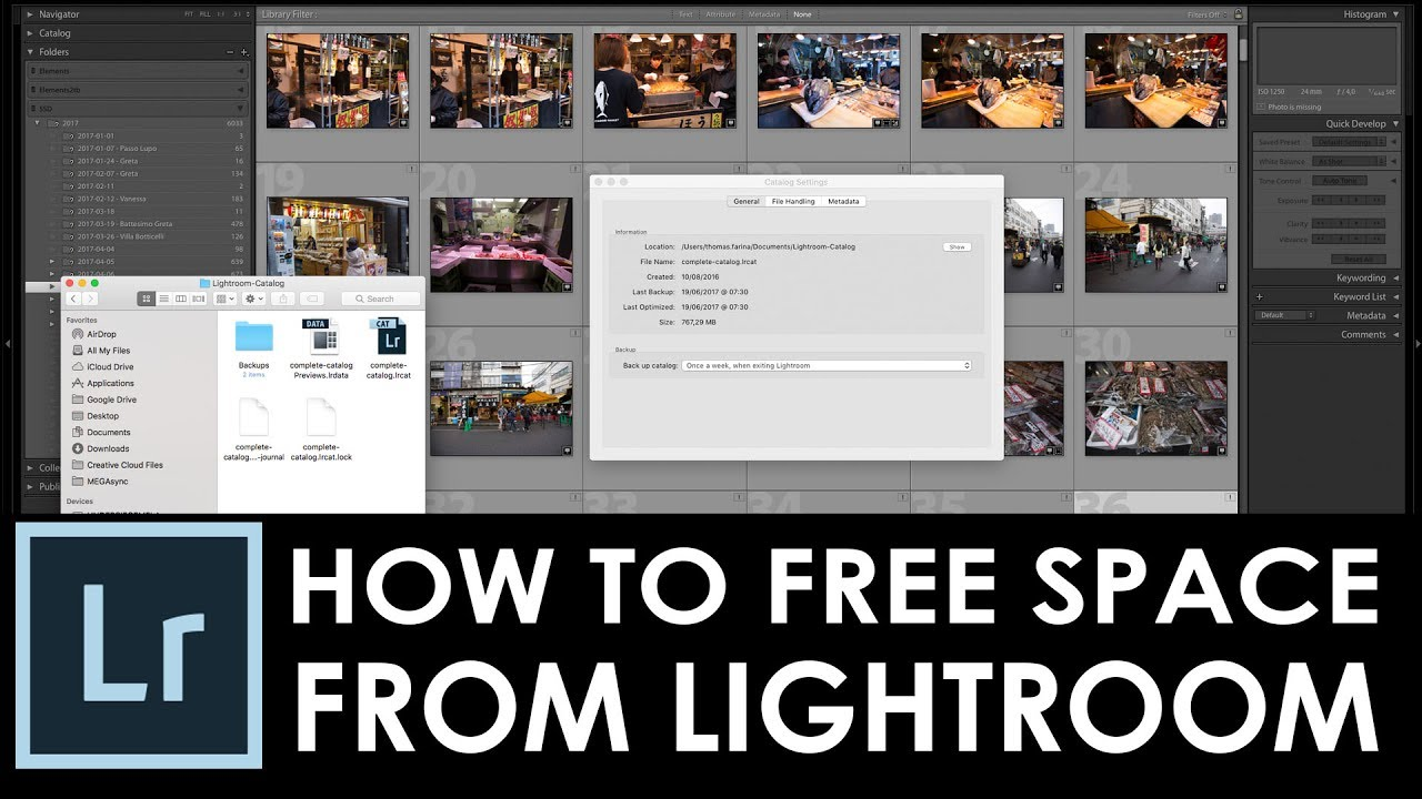 How To Free Up Disk Space Used By Adobe Lightroom Clear Previews