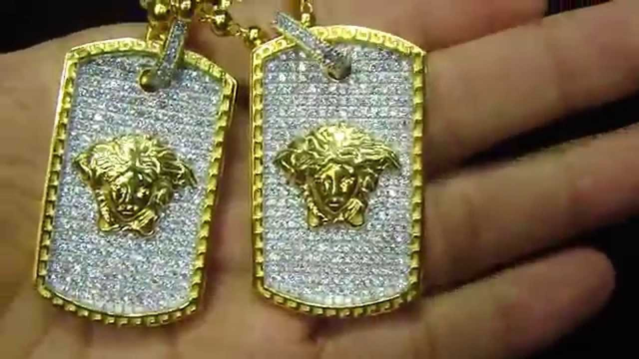 custom medusa dog tag designer pendant with bead ball necklace youtube