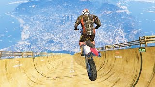 GTA 5 Crazy Jumps with Motorcycle #1 (GTA 5 Fails Funny Moments)