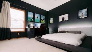 Modern Clean & Minimal Tech Bedroom Office Tour