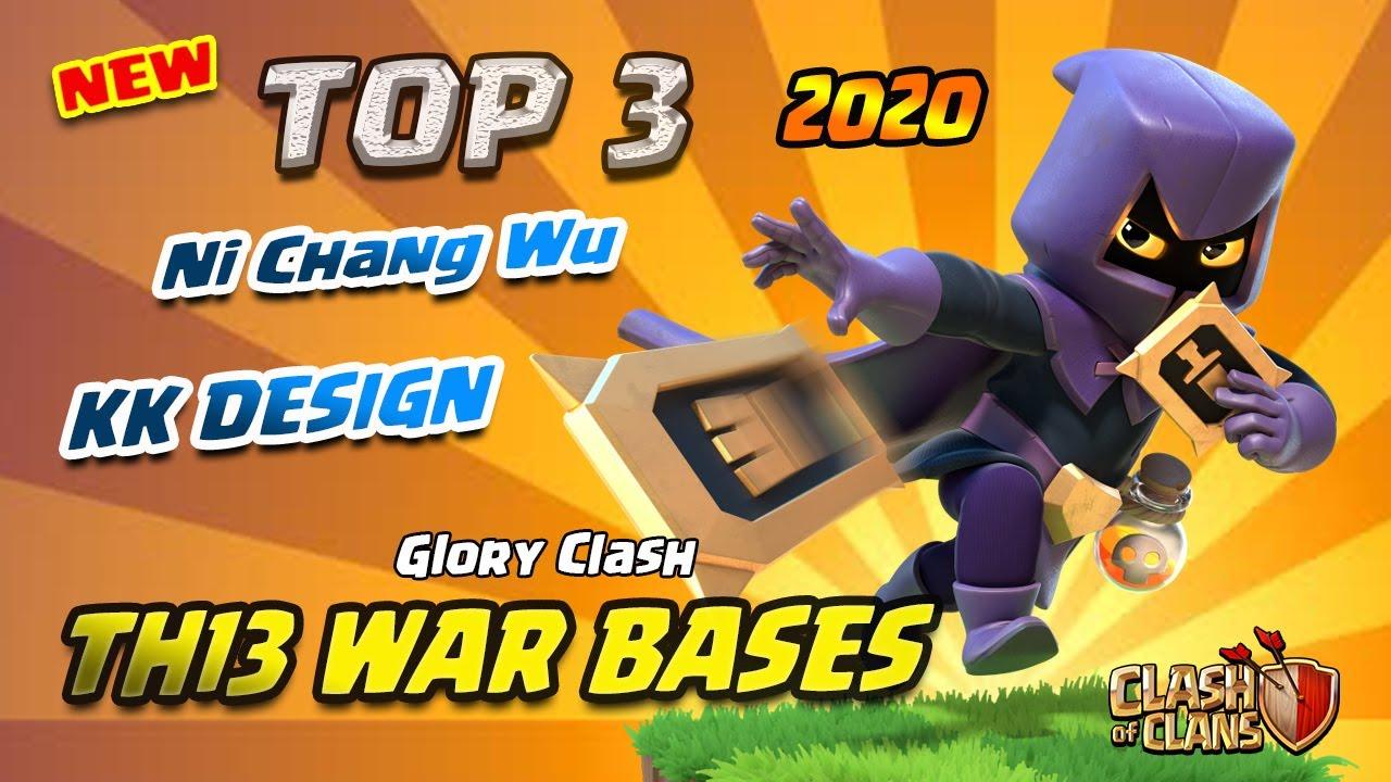 *NEW* TOP 3 Ni Chang Wu Th13 War Bases 2020/Anti 2-3 Star/KK Layouts Design/Clash of clans #532