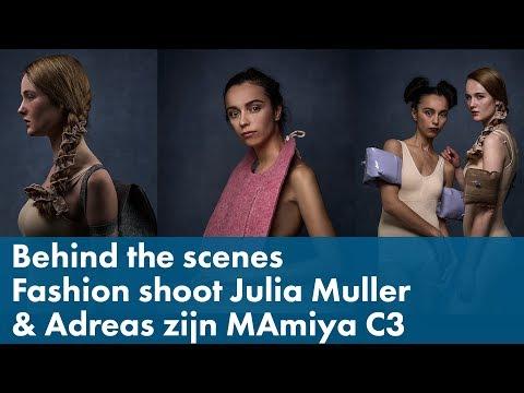 Behind the Scenes: Fashion fotoshoot met Julia Muller en Andreas Romijn met zijn Mamiya C3