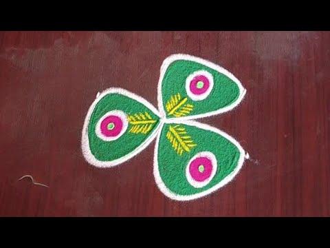 latest colour Kolam designs for festivals @24/7 Rangoli geethala muggulu #kolam #padikolam #rango