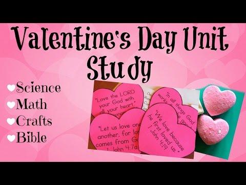 Valentine's Day Homeschool Unit Study ~ Science, Math, Crafts & Bible
