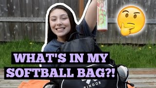 WHAT'S IN MY SOFTBALL BAG!?!