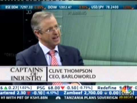 Clive Thomson's interview on CNBC Africa , Captains of Industry feature