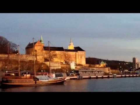 Oslo waterfront at dusk